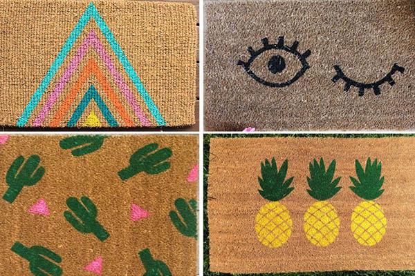 10 tapetes de entrada para sua casa - Desenho a seu gosto