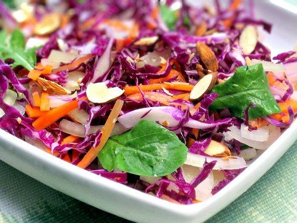 Uma refeição rápida para quando chega tarde a casa- Salada roxa
