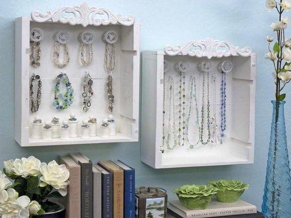 Gavetas antigas - 10 ideias de decoração - Guarda-jóias de parede
