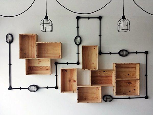 Gavetas antigas - 10 ideias de decoração - Crie a sua estante