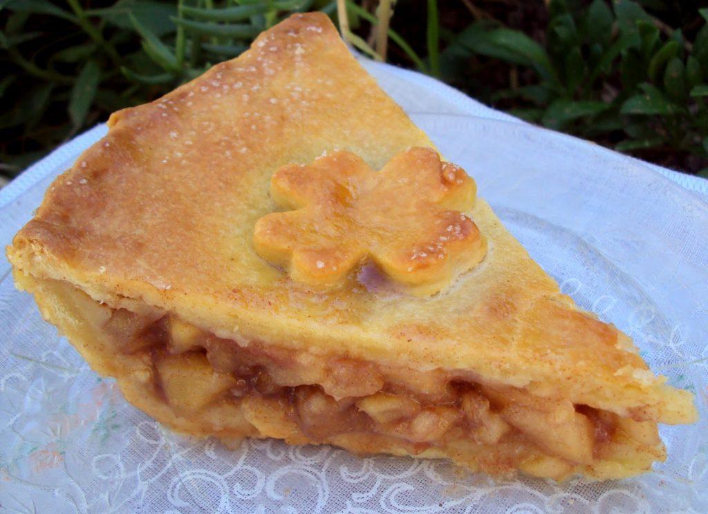 Tarte deliciosa de maçã e canela