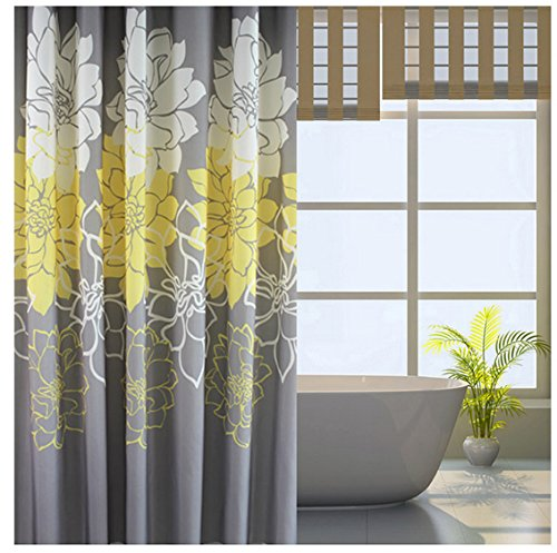 10 cortinas primaveris para alegrar a sua casa de banho - Estampados com enormes flores