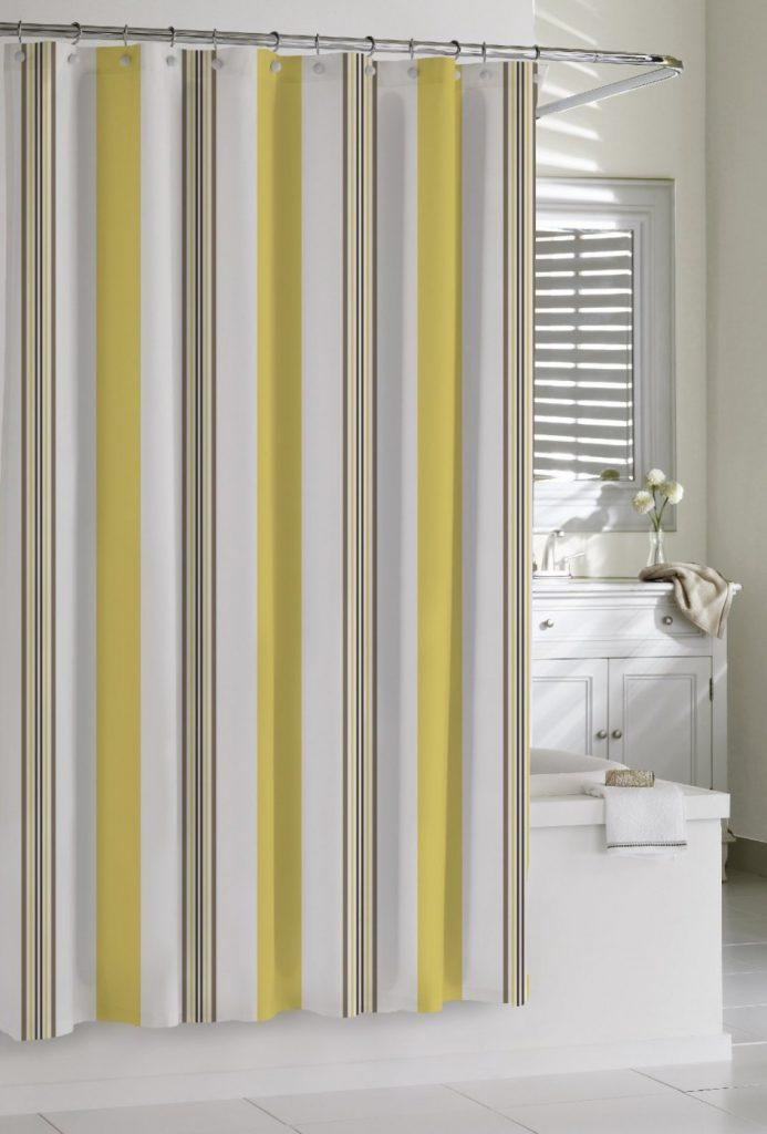 10 cortinas primaveris para alegrar a sua casa de banho - As clássicas riscas