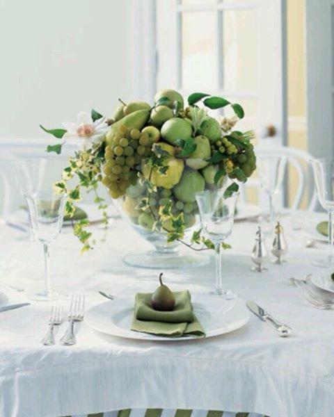 7 centros de mesa baratos e primaveris - Seja imaginativo com a fruta