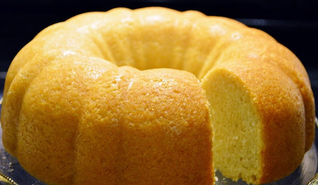 Receita de bolo húmido de limão e coco