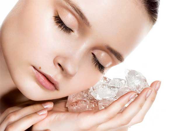 5 razões para usar gelo no rosto ao acordar- Gelo