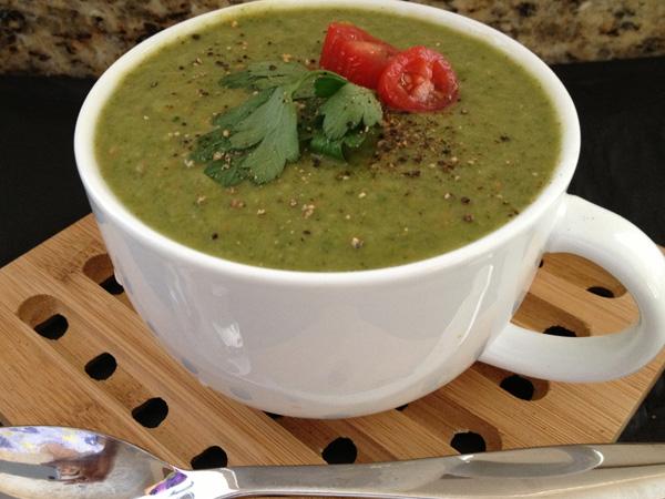 Sopa de coentros saudável para a primavera- Sopa de coentros