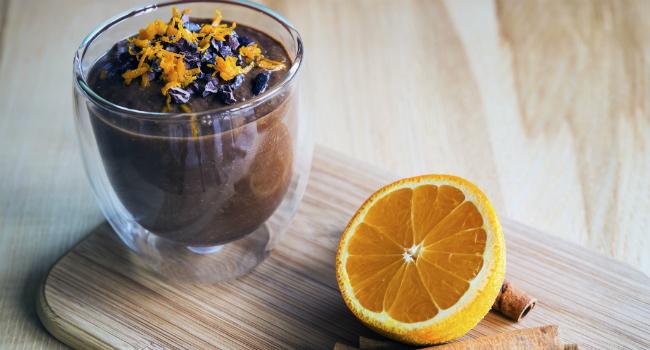 Receita de mousse de chocolate com laranja