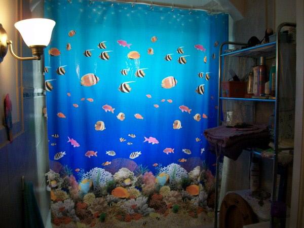 10 cortinas primaveris para alegrar a sua casa de banho - Mergulhe no oceano