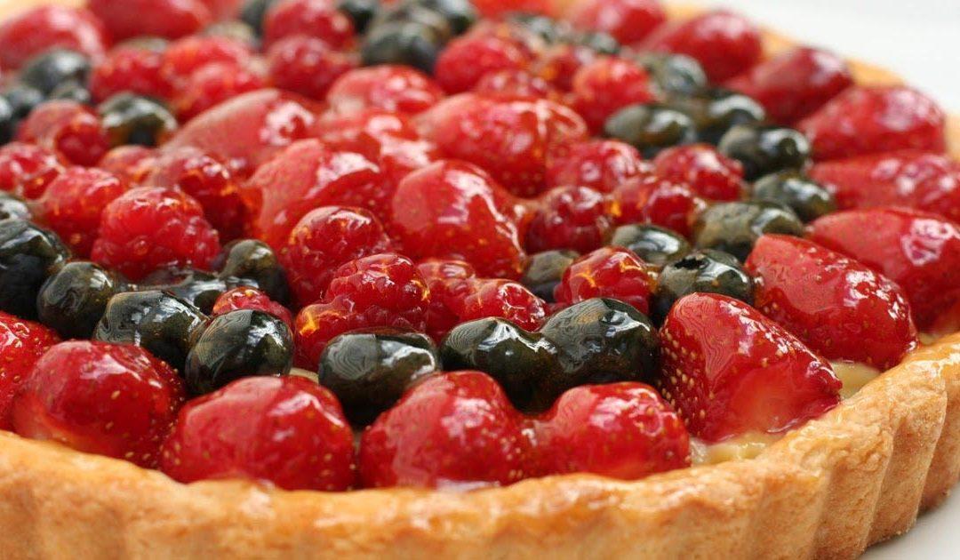 Tarte de frutos vermelhos – Uma sobremesa sem açúcar