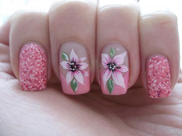 Unhas de gel amimadas para a Primavera/ Verão - Tons rosa