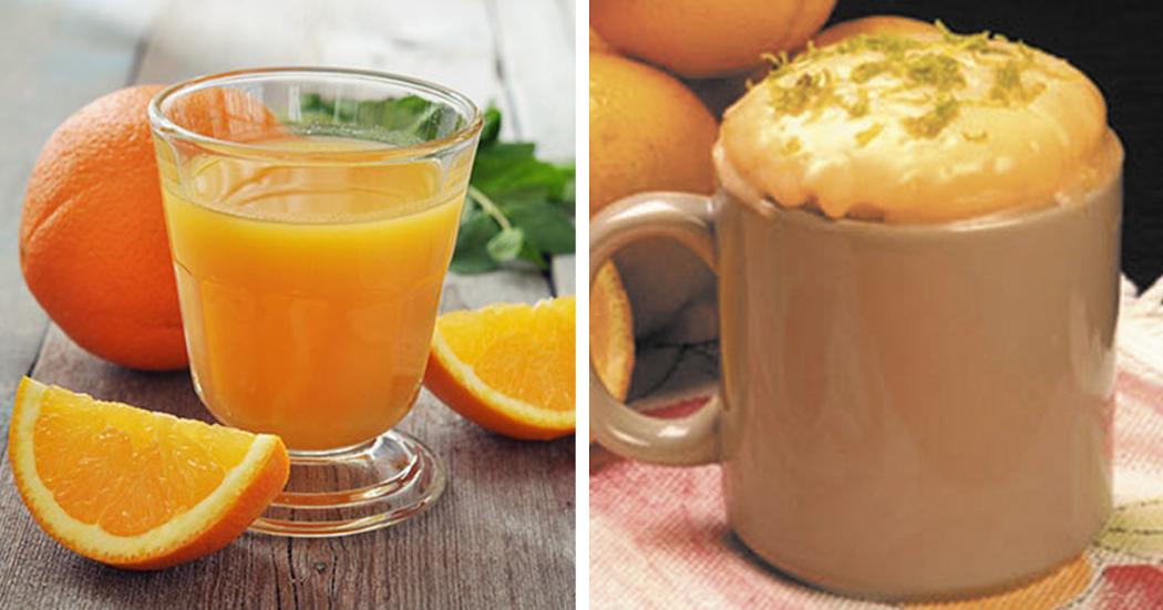 7 Benefícios da laranja + bolo de laranja na caneca