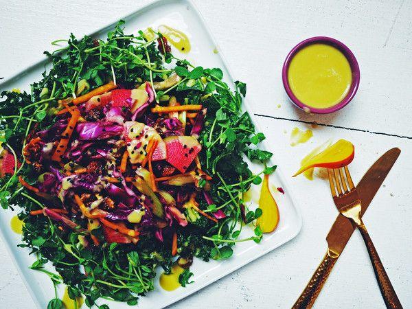 Benefícios das sementes de Cânhamo para o nosso organismo- salada de agrião com manga e cânhamo