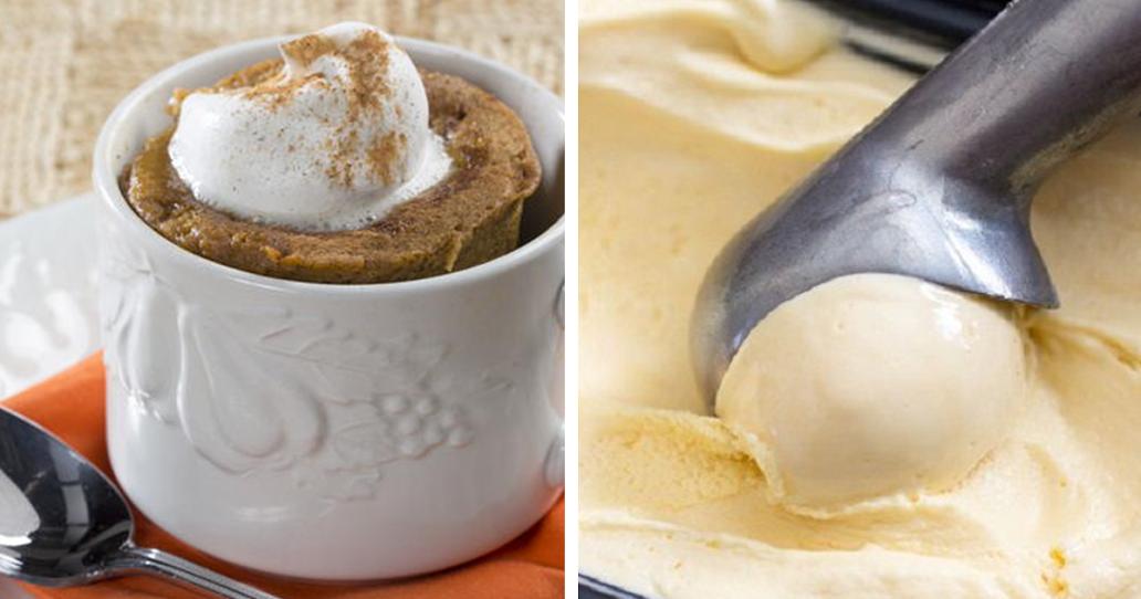 Bolo de canela na caneca com gelado de banana – uma sobremesa saudável