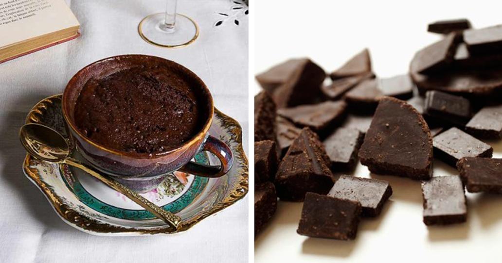 Receita de bolo de mousse de chocolate na caneca sem farinha e sem açúcar