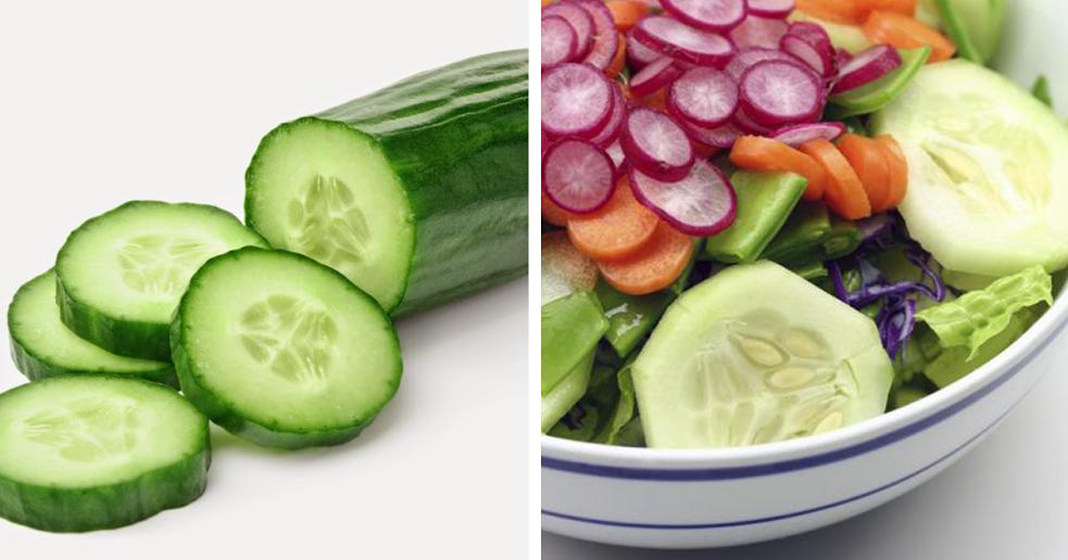 Salada de rabanete e pepino – Uma refeição pouco calórica