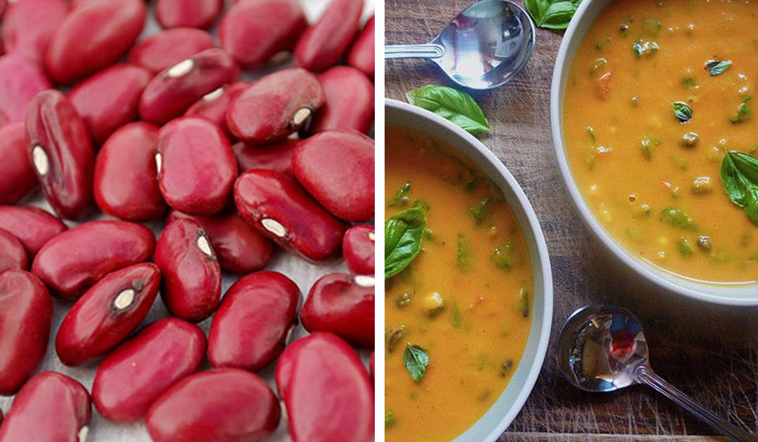 Receita de sopa de feijão vermelho com legumes