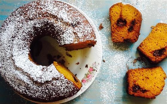 Receita de bolo de abóbora e laranja com chocolate- Bolo de abóbora