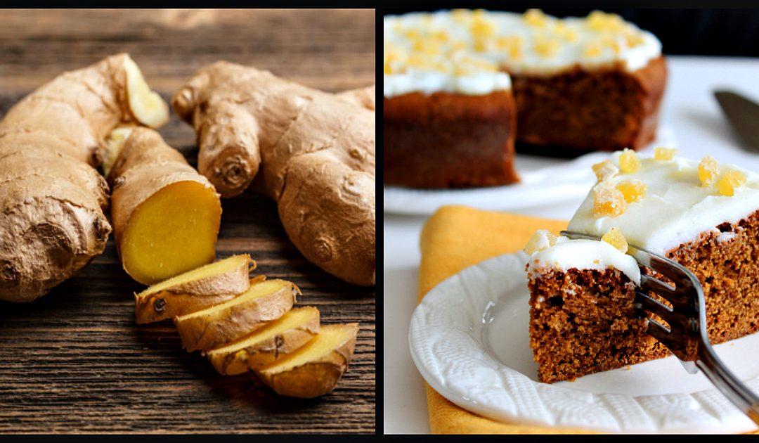 Receita de bolo de gengibre com canela e limão