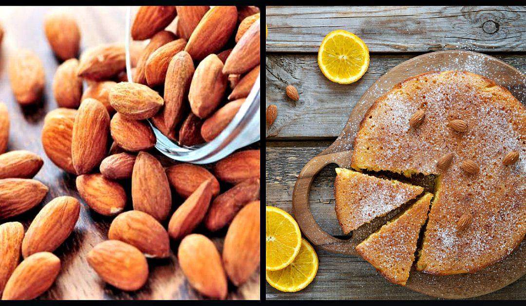 Receita de bolo húmido de laranja com amêndoas