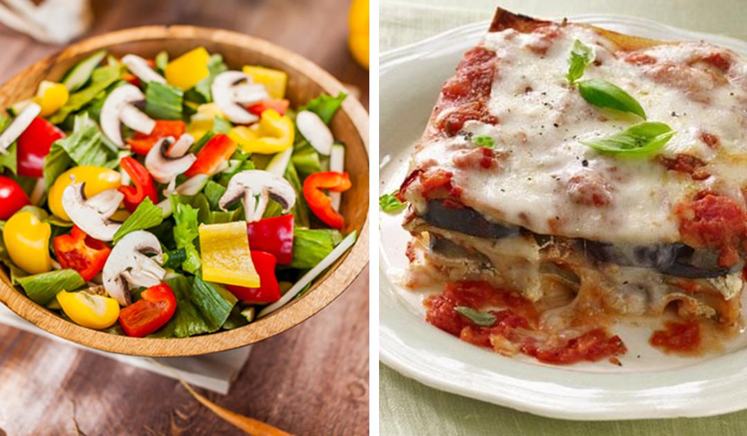 Receita saudável de lasanha vegetariana sem massa