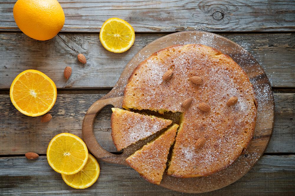 Receita de bolo húmido de laranja com amêndoas- Bolo húmido de laranja com amêndoas