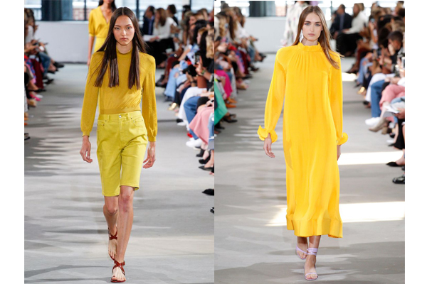 Tendências de cores de roupa de verão 2018- Amarelo