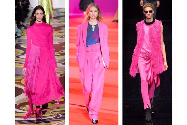 Tendências de cores de roupa de verão 2018- Cor-de-rosa vibrante
