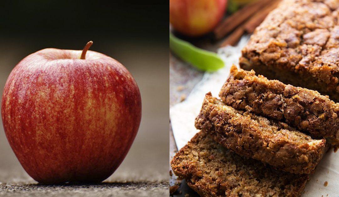 Receita de bolo de iogurte e maçã
