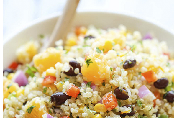 Receita de salada de feijão preto com laranja e quinoa- Salada de feijão preto com laranja e quinoa
