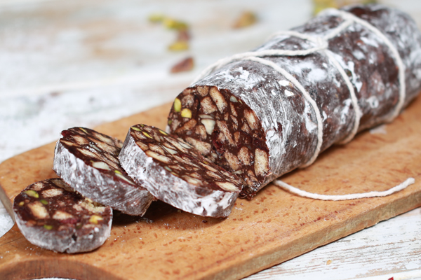 Receita de salame de chocolate- Salame de chocolate