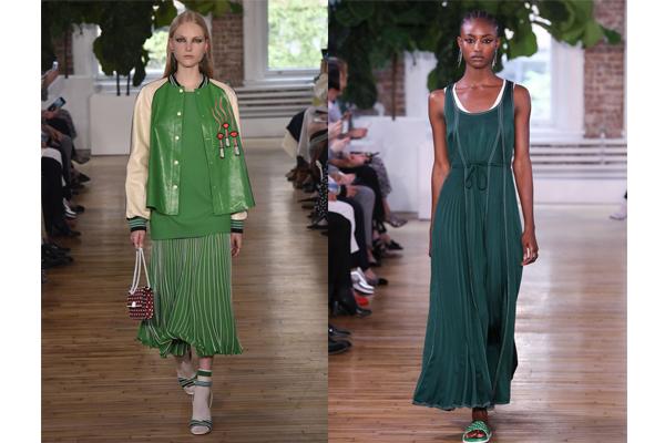 Tendências de cores de roupa de verão 2018- Verde