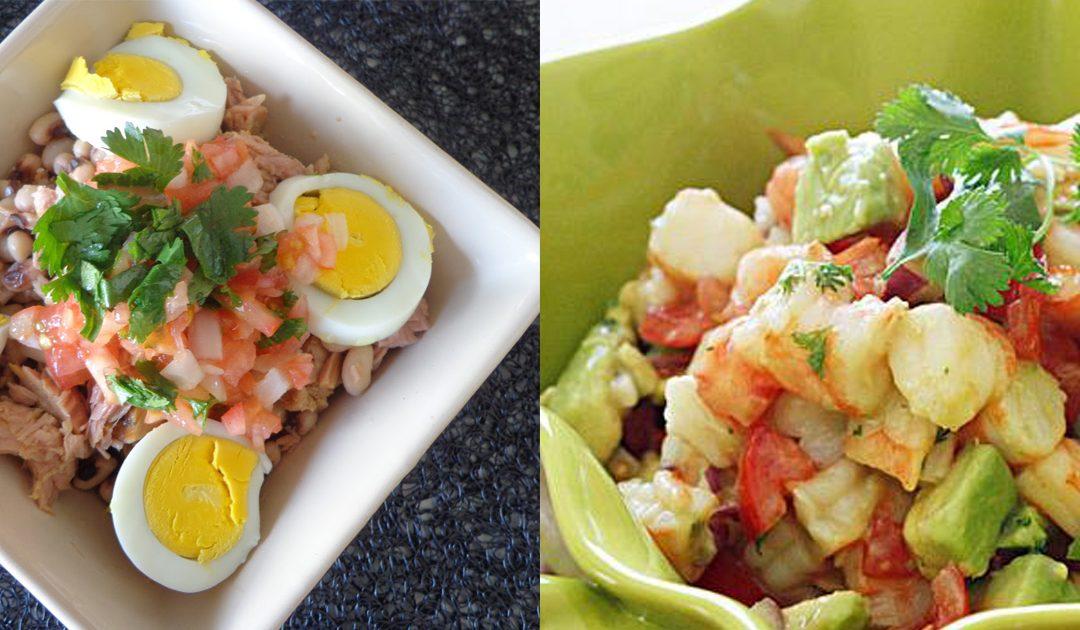 2 saladas saudáveis, saciantes e deliciosas