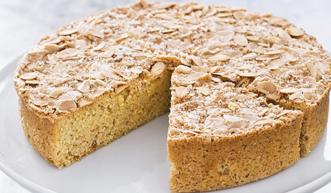 Bolo de amêndoas, um bolo simples, delicioso e rápido de fazer