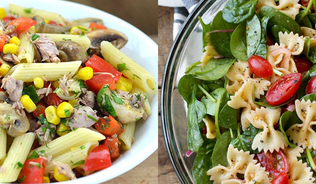 Receita de 2 saladas frescas, completas e saborosas