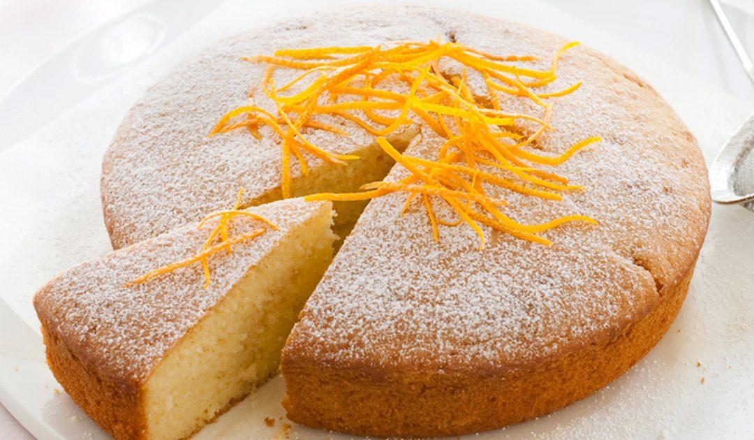 Receita de bolo de laranja e iogurte