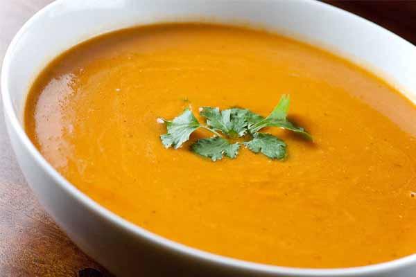 Sopa fria de abóbora e cenoura, ideal para os dias quentes de Verão- Sopa fria de abóbora e cenoura