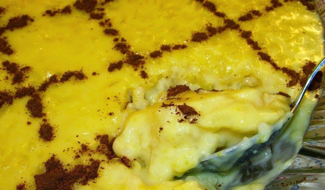 Arroz doce – uma sobremesa tradicional deliciosa