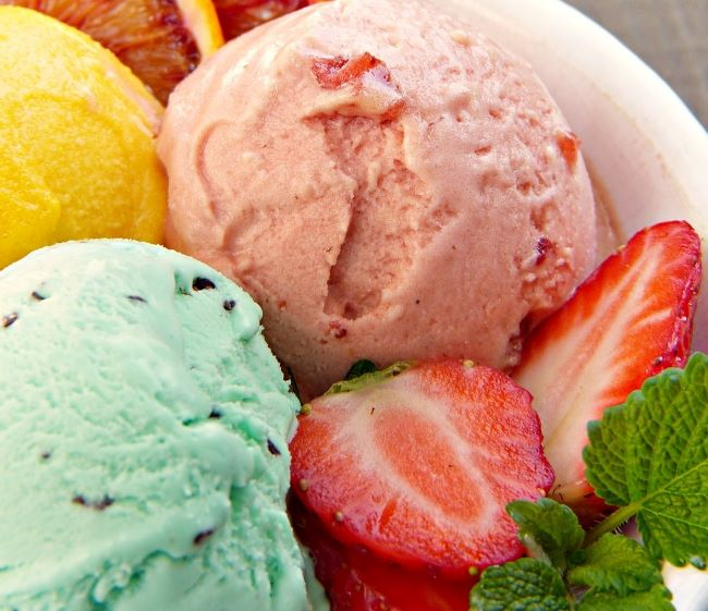 Como fazer gelado de baunilha e manga sem máquina