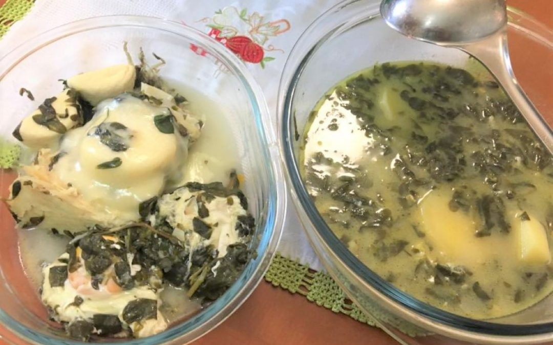 Receita de Sopa de Beldroegas com bacalhau e queijo